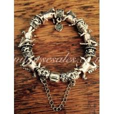 Miniature Horse Charm Bracelet