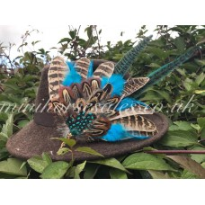Turquoise Feather Hat Pin