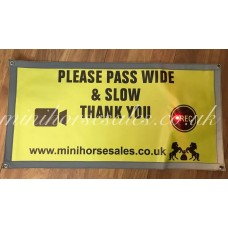 Hi Vis LED Carriage safety sign