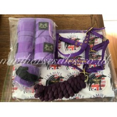Purple (UKAMHS) leg and tail bandage set
