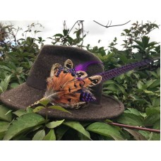 Purple Feather Hat pin