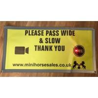 Hi Vis LED Carriage safety sign
